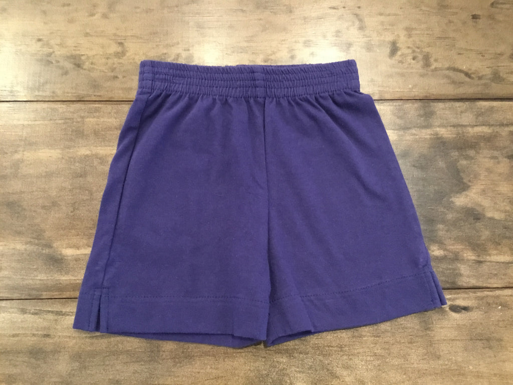 Light Navy Jersey Knit Shorts by Luigi Kids