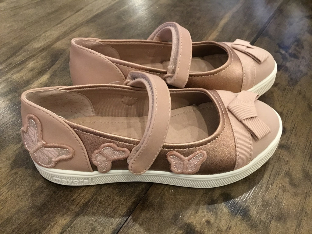 Rose Gold Butterfly Mary Janes