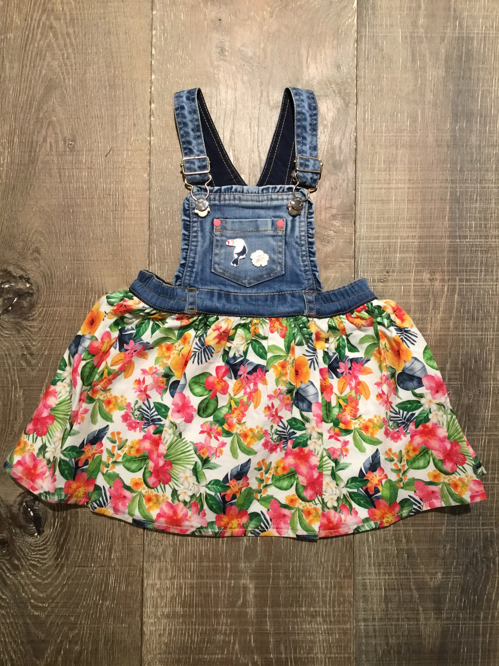 Tropical Overall Dress