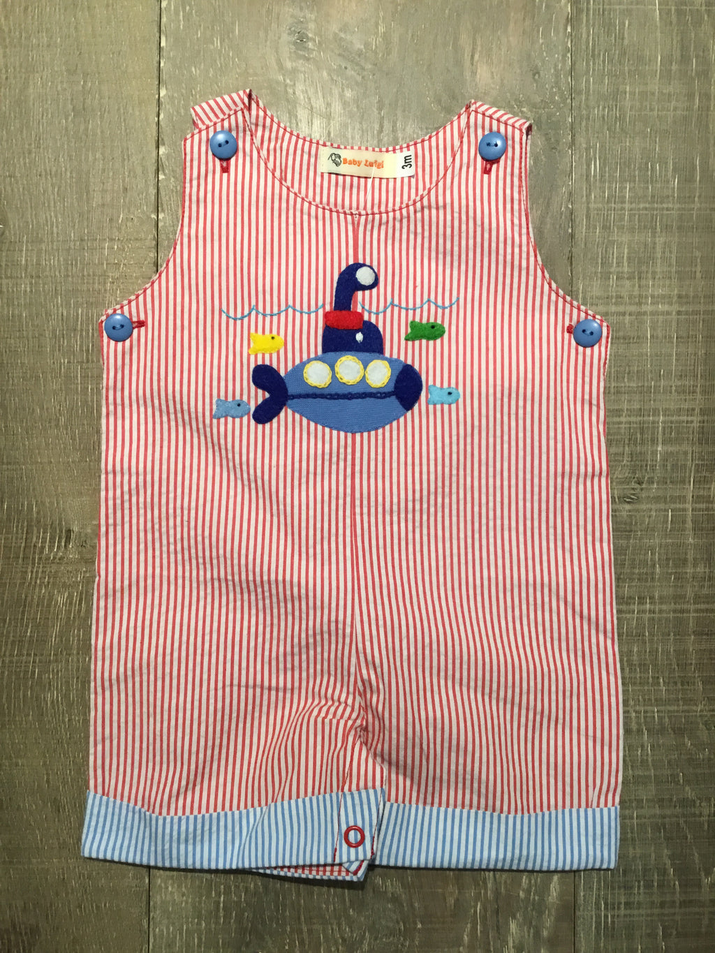 Submarine Seersucker Romper by Luigi Kids