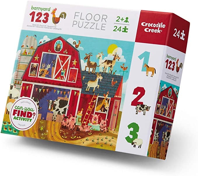 LOCAL PICK-UP ONLY Barnyard 123 - 24 Piece Puzzle
