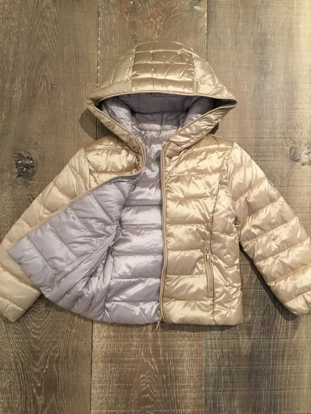 Champagne Reversible Coat