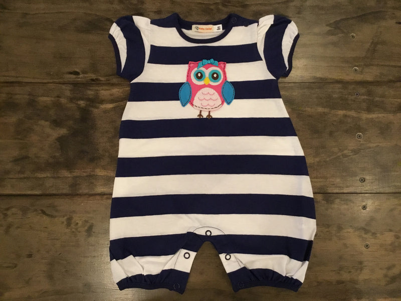 Striped Owl Romper by Luigi Kids