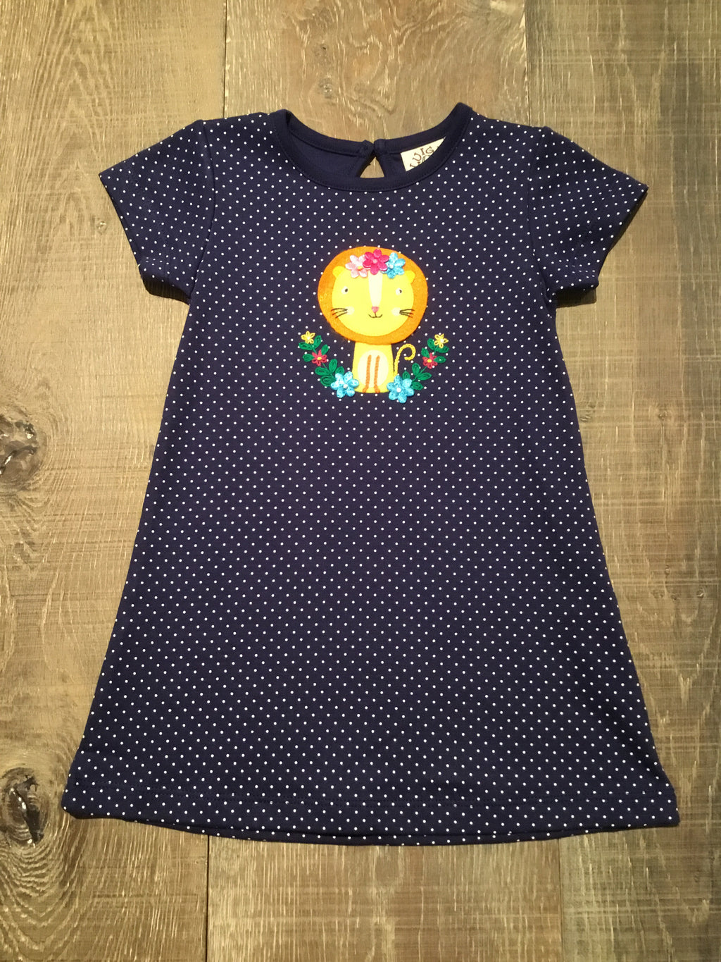 Navy Dotted Lioness Dress
