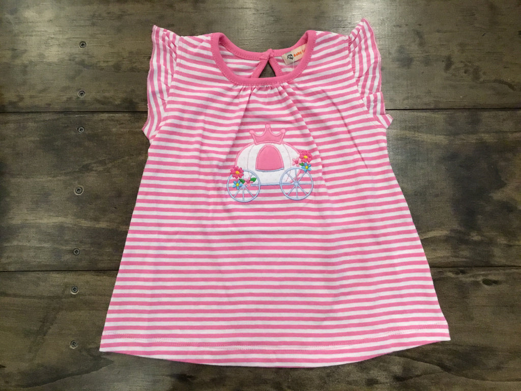 Striped Pink Carriage Swing Top by Luigi Kids
