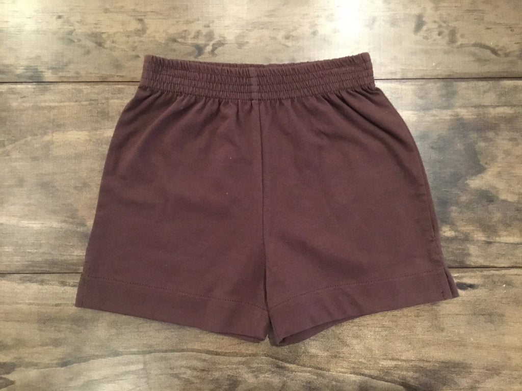 Chocolate Jersey Knit Shorts by Luigi Kids