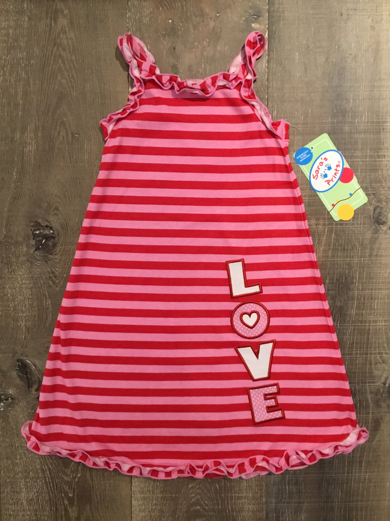 Love Strappy Ruffle Tank Nightgown