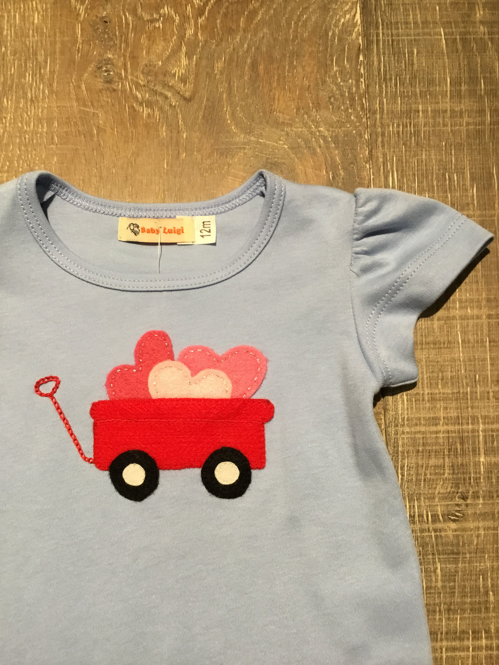 Wagon of Hearts Sky Blue Shirt