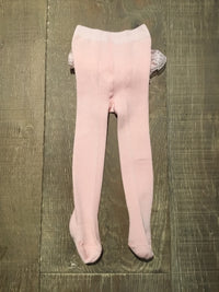 Pink Ruffle Bottom Tights
