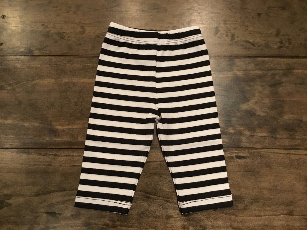 Black & White Striped Capris by Luigi Kids