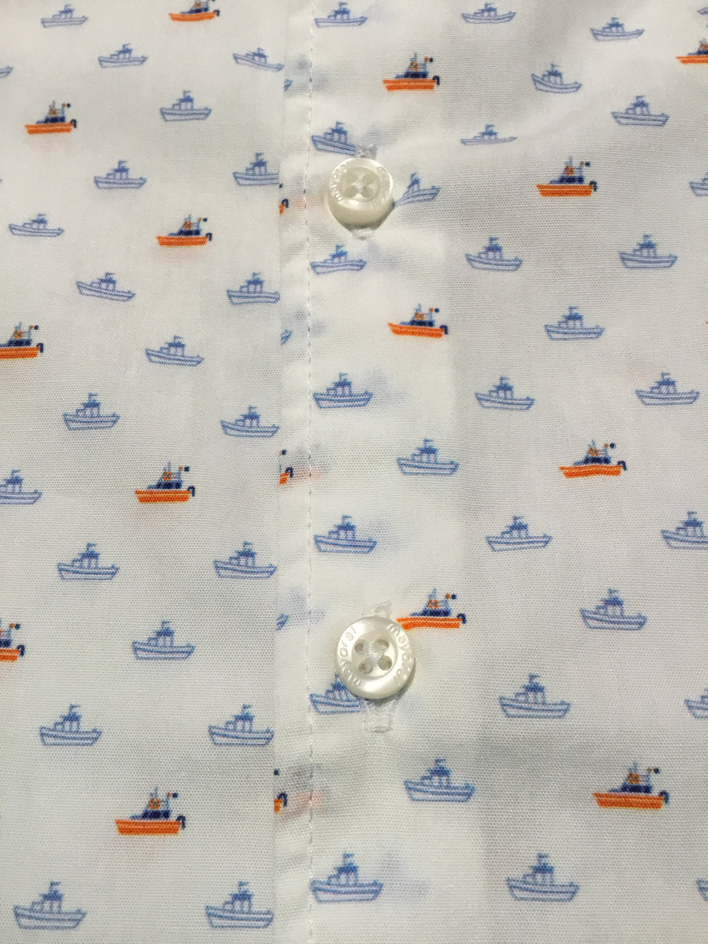 Yacht Print Button Down Shirt