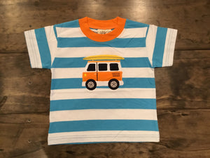 Striped Surf Van T-Shirt by Luigi Kids