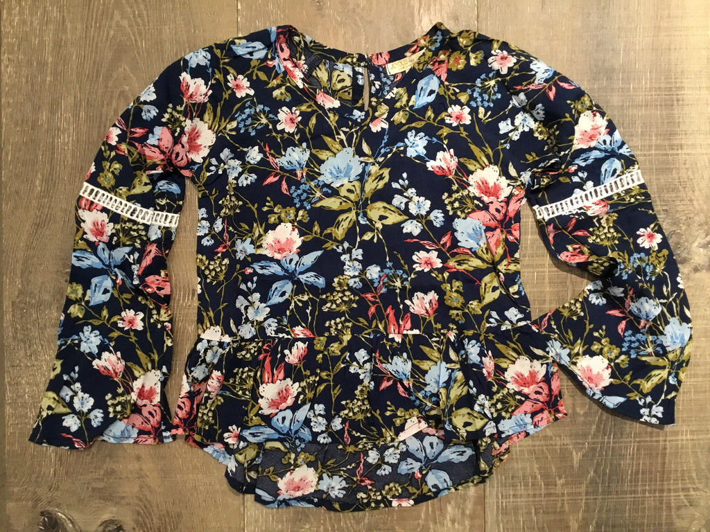 Floral Daniella Long Sleeve Top