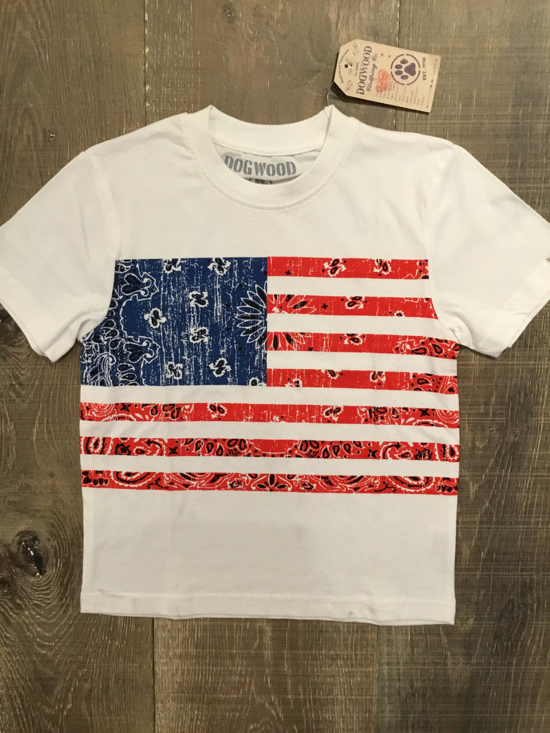 Bandana Flag Short Sleeve Shirt