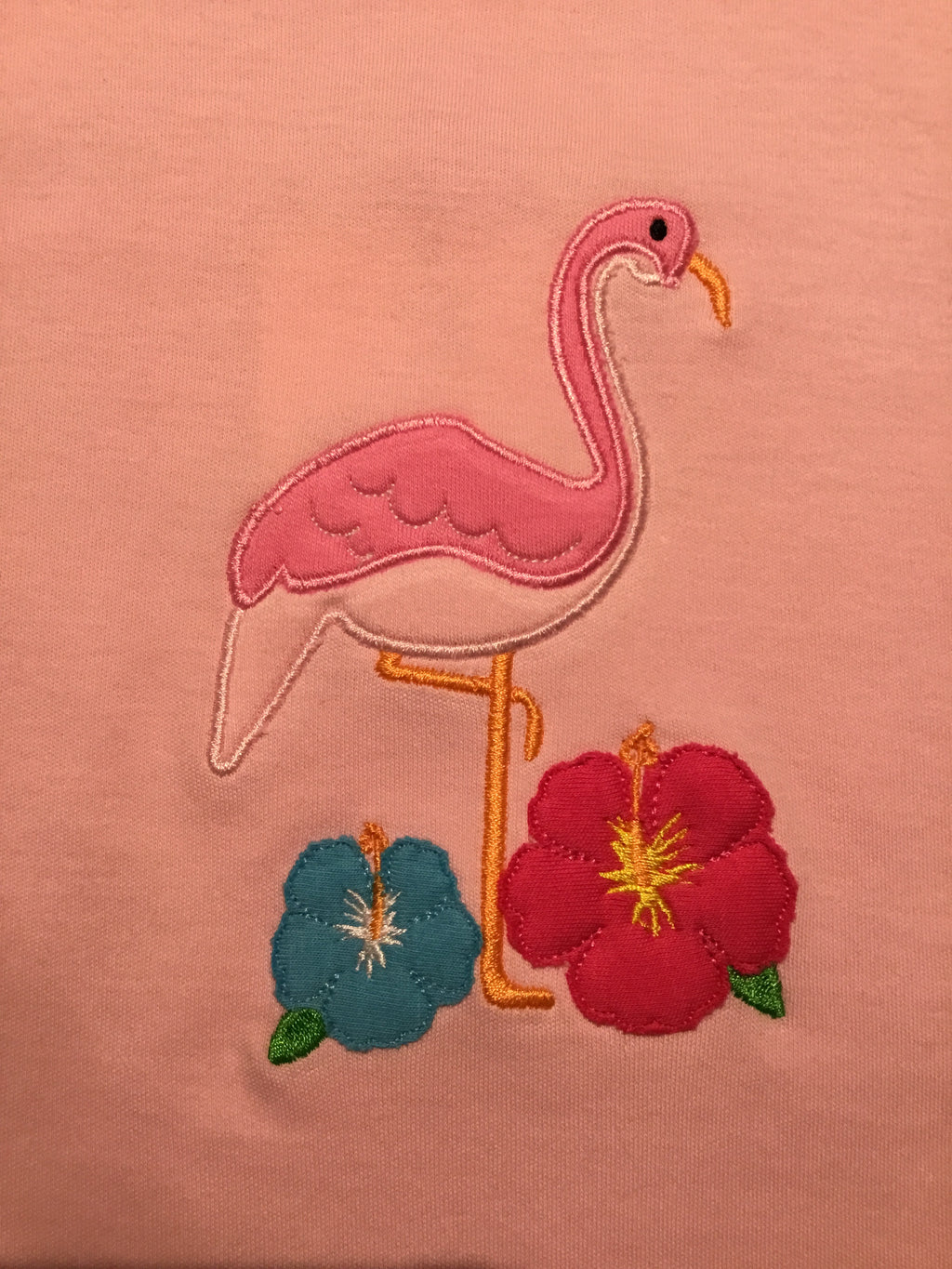 Pink Flamingo & Flowers Shirt