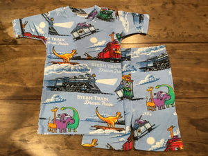 Steam Train, Dream Train Shortjohns Sleepwear