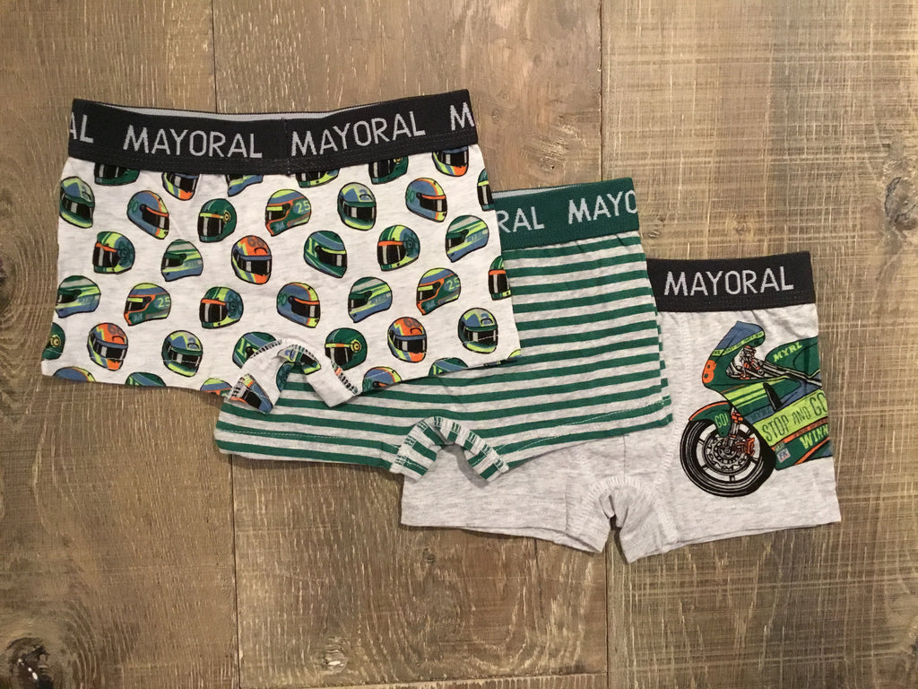 Motor Helmets/Striped/Grey 3-Pack Boxers