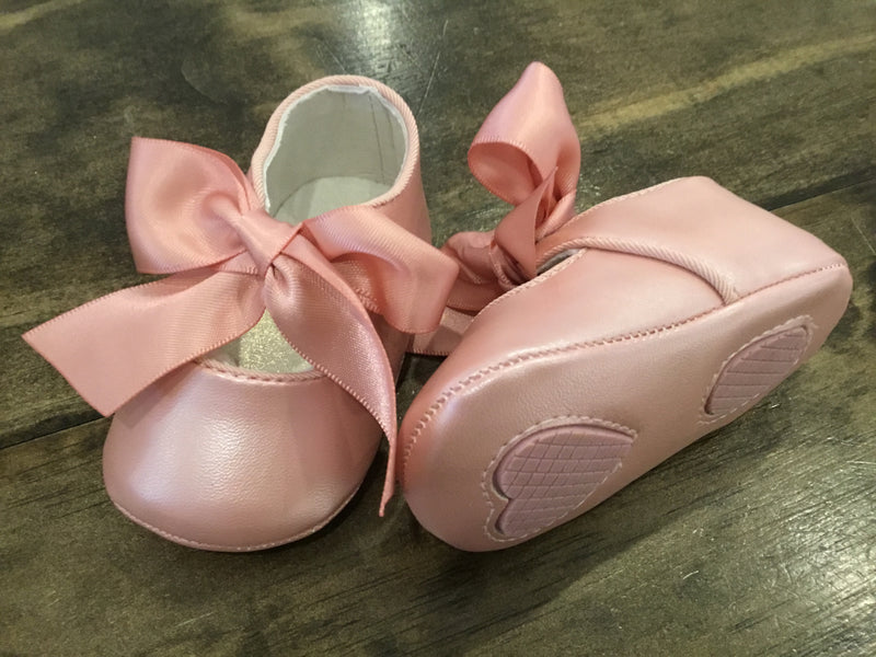 Pearly Pink Mary Janes
