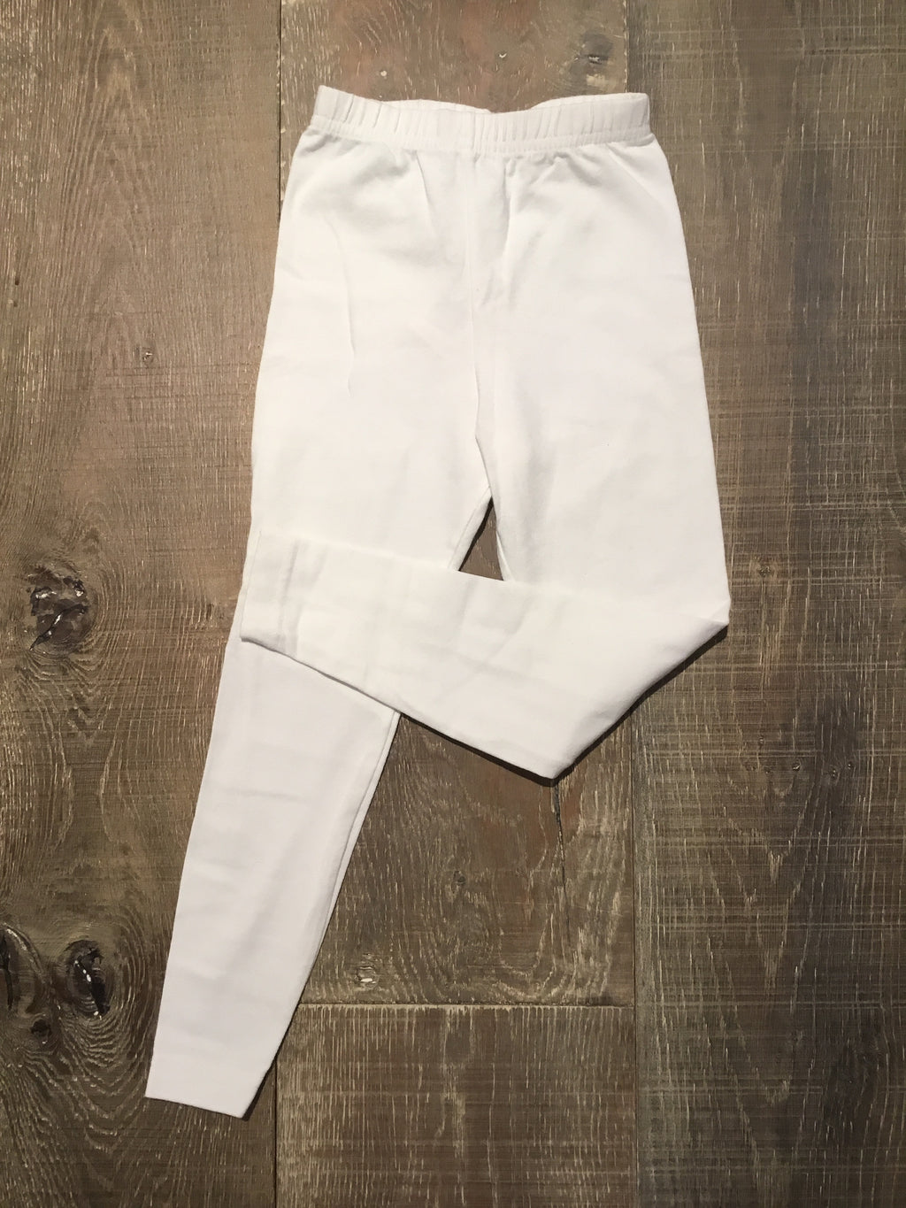 White Cotton/Lycra Leggings