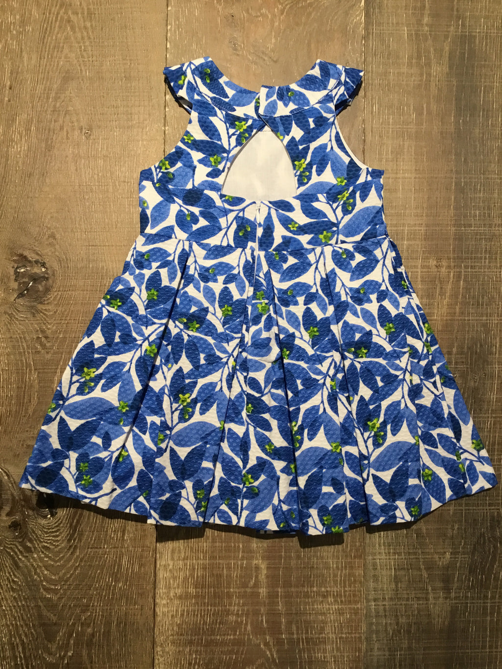 Blue Leaf Cotton Dress