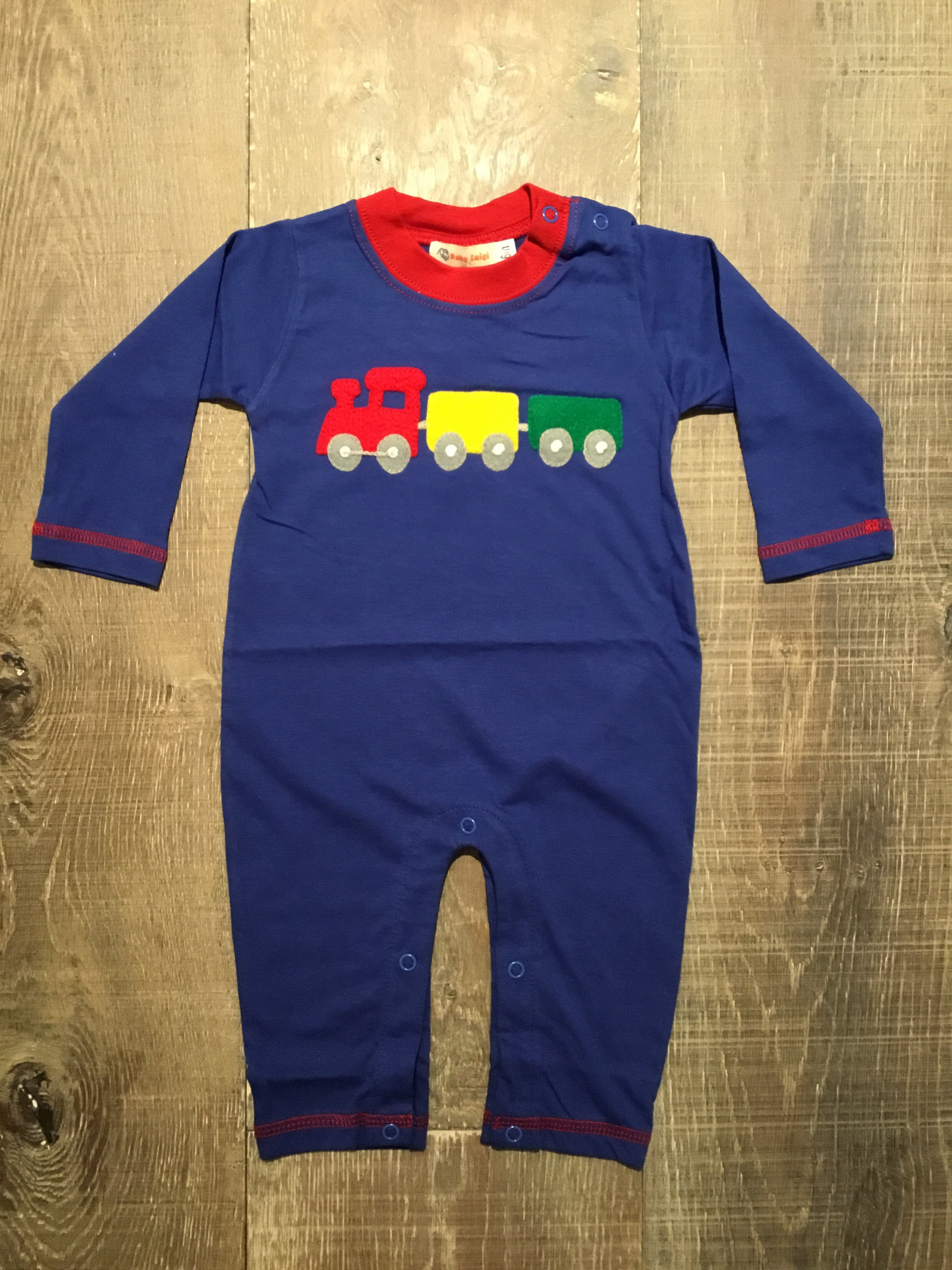 Train on Royal Blue Coverall