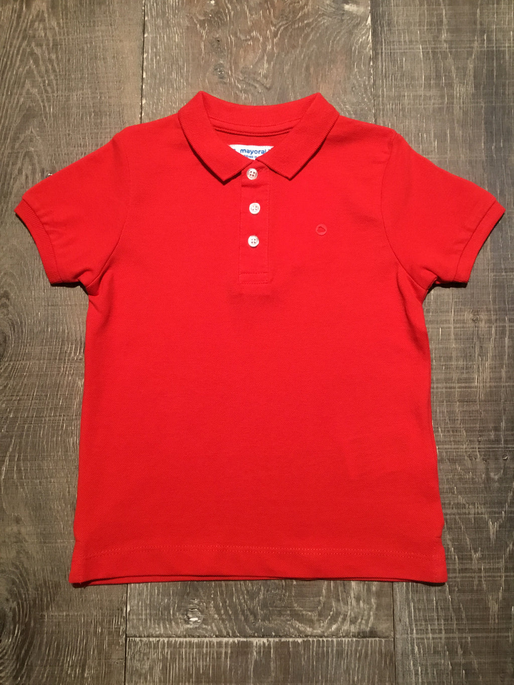 Red Short Sleeve Polo