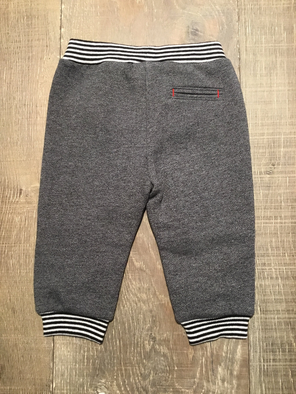 Black and White Cuffed Grey Trousers