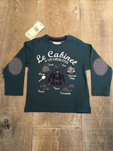 Detective Long Sleeve Tee in Dark Green