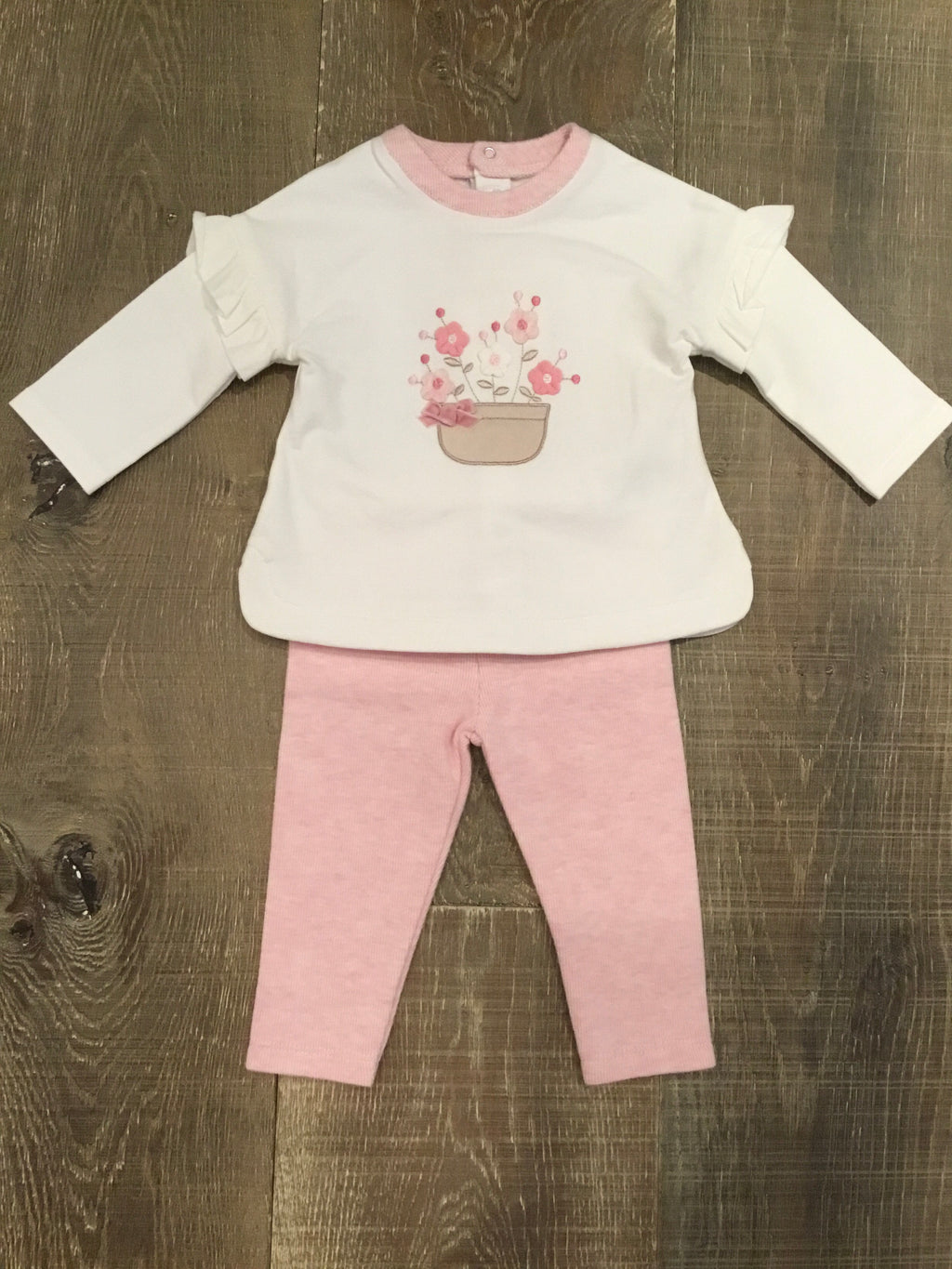 Flower Bowl Long Sleeve Top and Legging Set