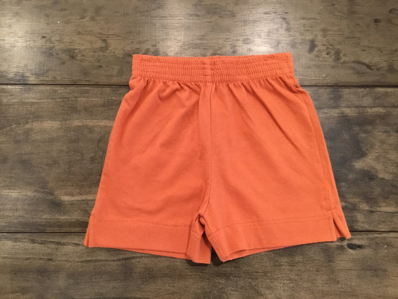 Rust Jersey Knit Shorts by Luigi Kids