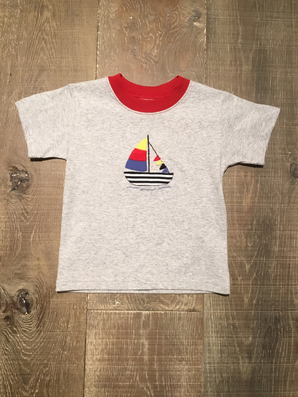 Sailboat Applique Grey Tee