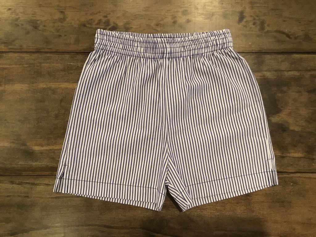 navy seersucker luigi shorts