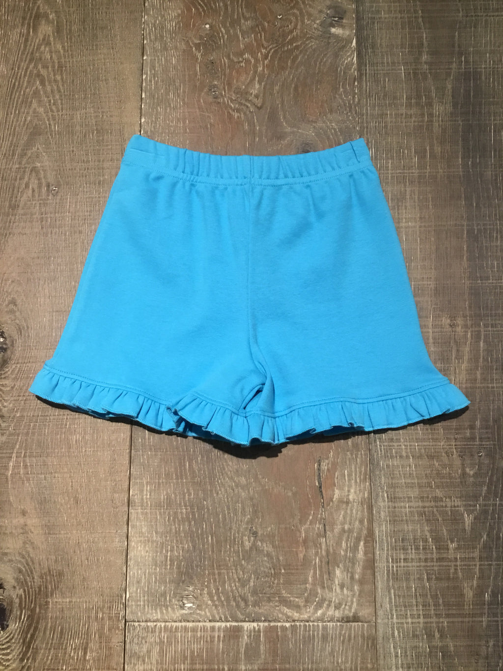 Turquoise Ruffle Edge Shorts by Luigi Kids