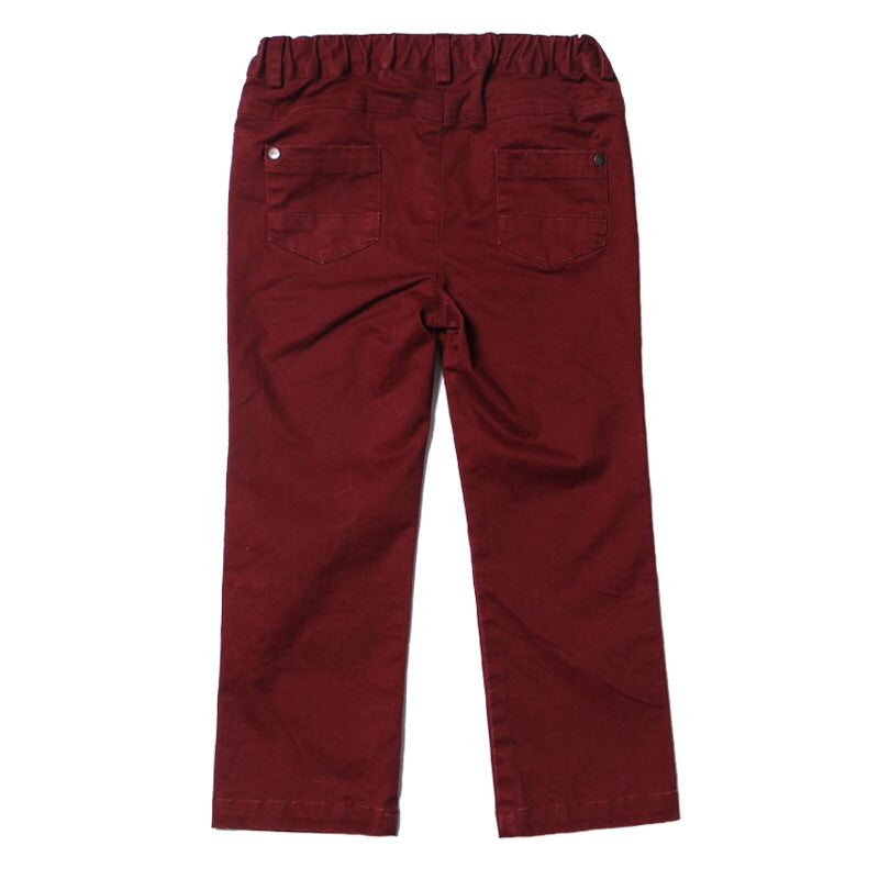 Maroon Stretched Twill Pant