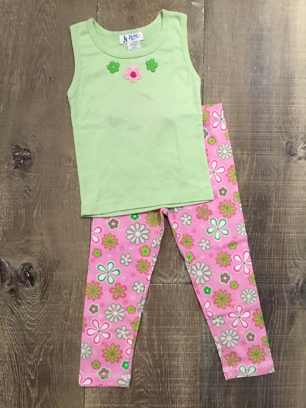 Green Daisies Tank and Capri PJs