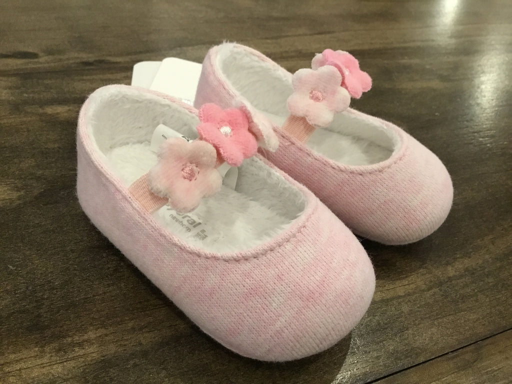 Pink Flower Mary Janes Infant