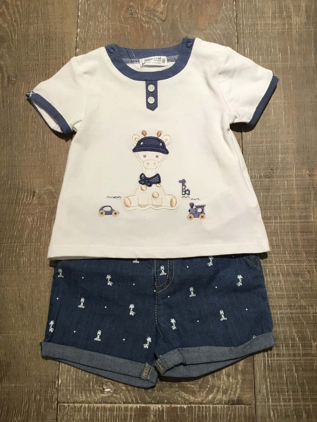 Giraffe Top & Shorts Set
