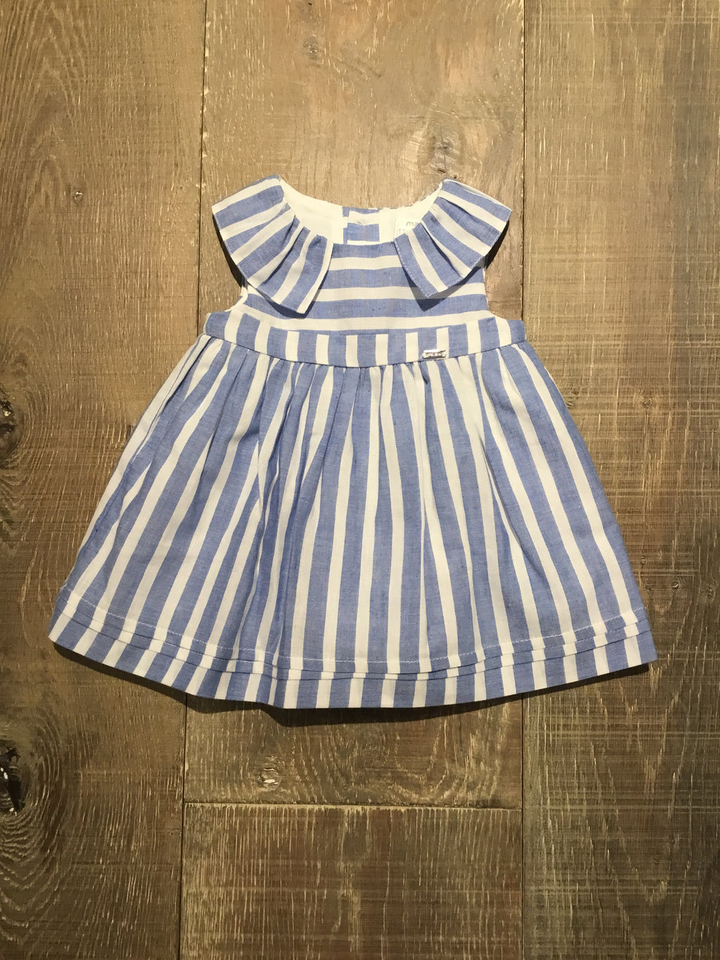 Blue & White Striped Dress & Bloomers