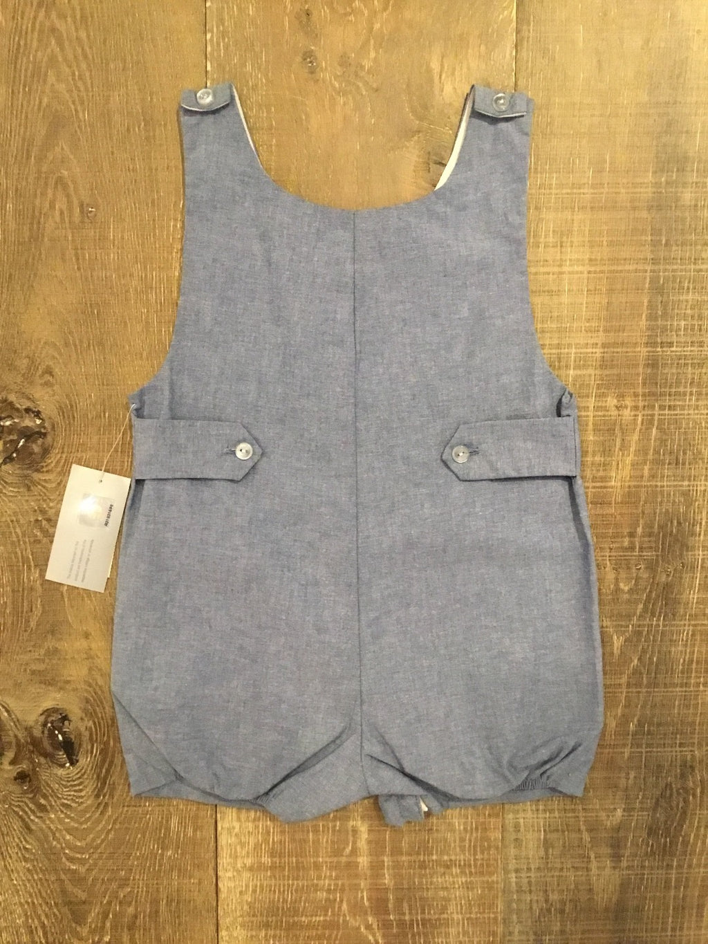 Smocked Denim Longhorn Shortall