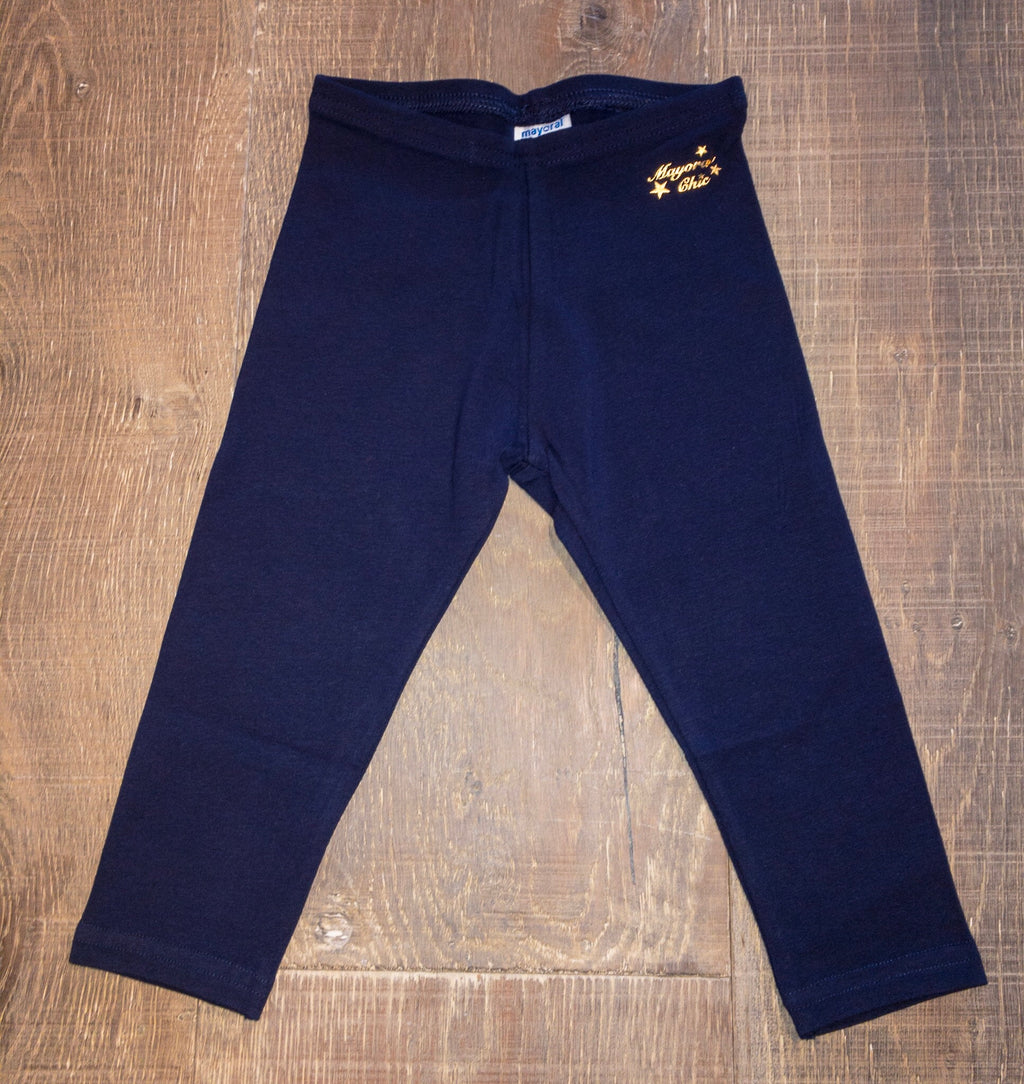 Red or Navy Solid Leggings