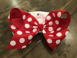 Giant French Clip Dotted Bows