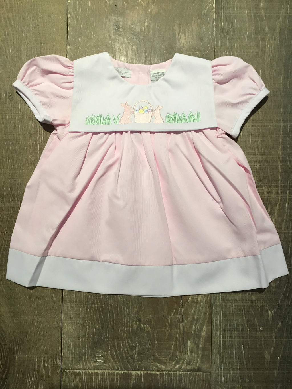 Pink Bunnies Bib Dress
