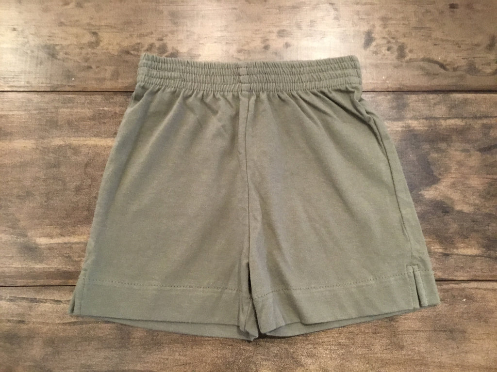 Olive Jersey Knit Shorts by Luigi Kids