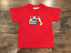 Backhoe Short Sleeve Shirt by Luigi Kids