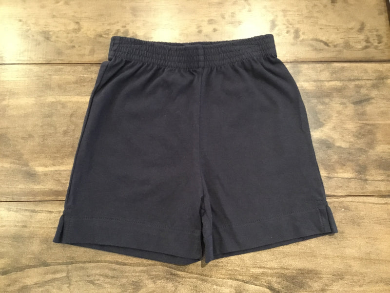 Navy Jersey Knit Shorts by Luigi Kids