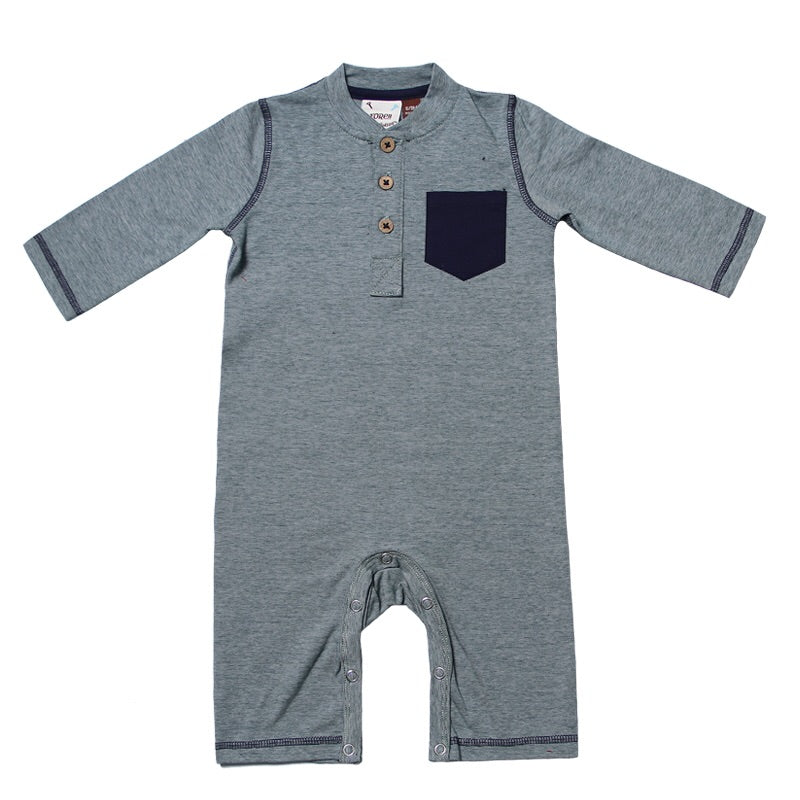 Forest Green Pocket Henley Coverall