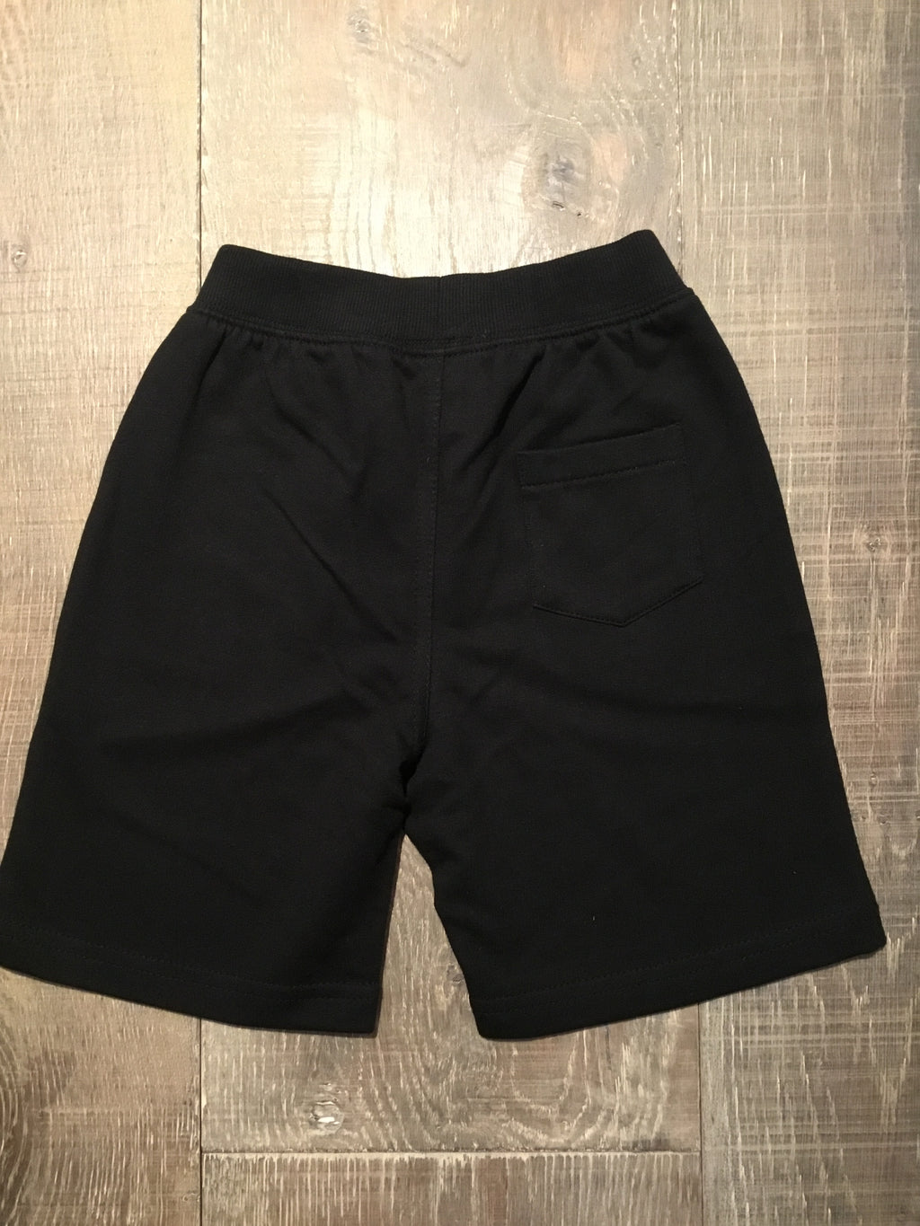 Black Knit Drawstring Pocket Shorts