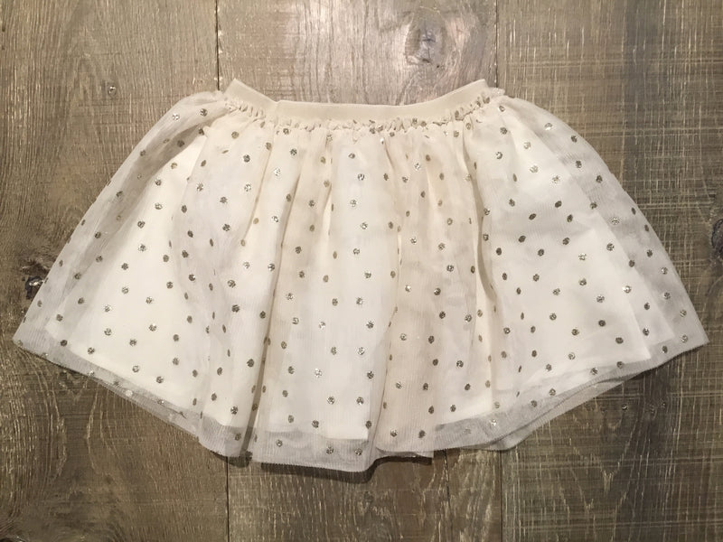 Ivory & Gold Tulle Skirt