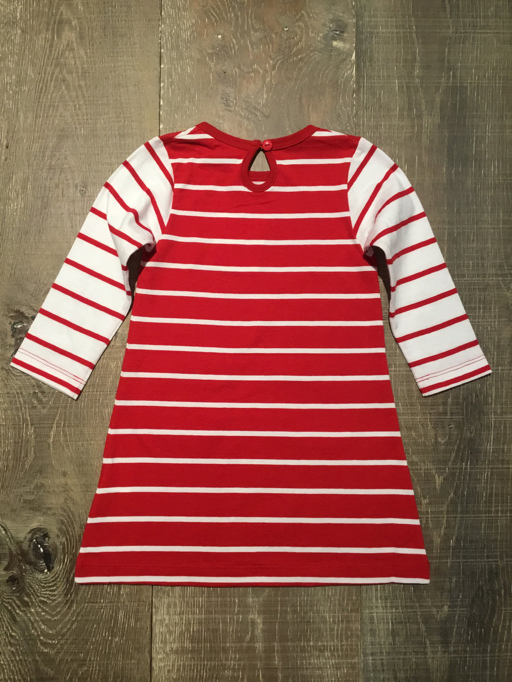 Red & White Stripe Pocket Dress