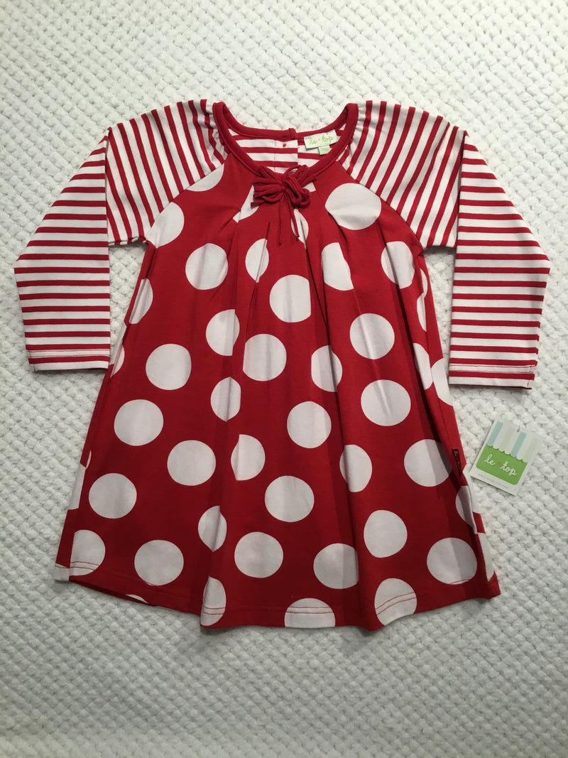 Red and White Big Dot Dress